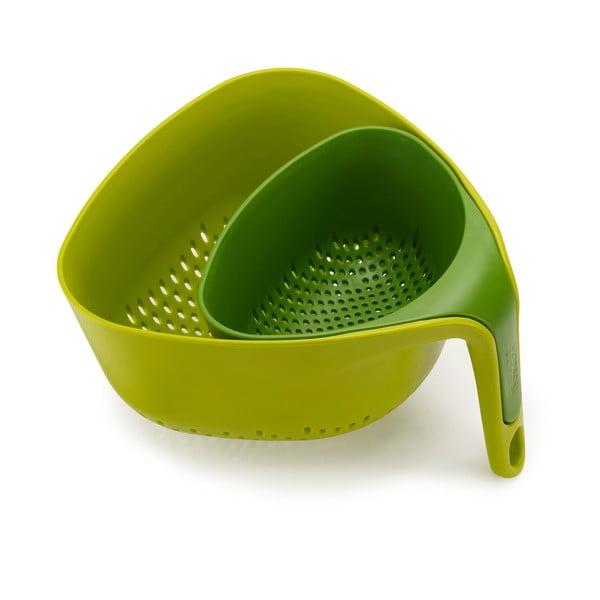 Strecurătoare compactă Joseph Joseph Colanders, verde