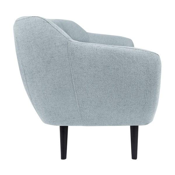 Canapea cu 3 locuri Mazzini Sofas Piemont, albastru deschis