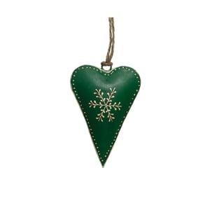 Zelená vánoční dekorace Rex London Snowflake
