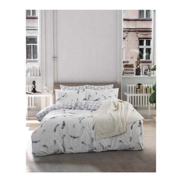 Lenjerie de pat din bumbac ranforce și cearșaf Paradise, 200 x 220 cm
