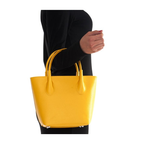 Kožená kabelka Carlota, žlutá