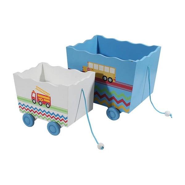 Sada 2 dětských úložných boxů Wooden