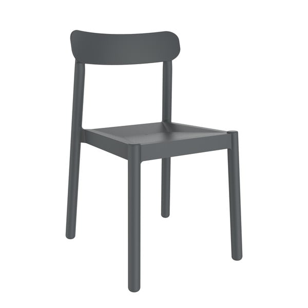 Set 4 scaune de grădină Resol Elba, gri închis