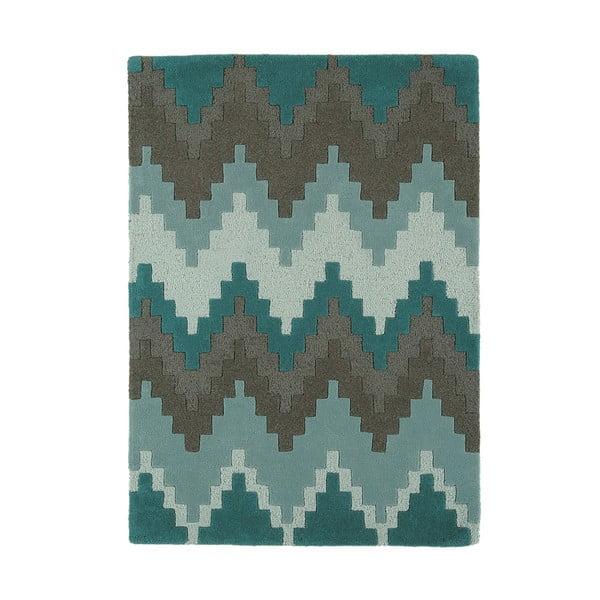 Vlněný koberec Matrix Cuzzo Teal 160x230 cm