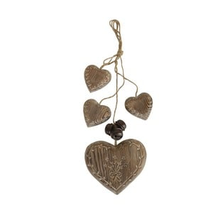 Decorațiune suspendată Antic Line Wood Garland Hearts