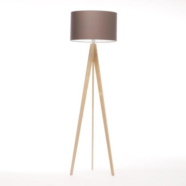 Hnědá stojací lampa 4room Artist, bříza, 150 cm
