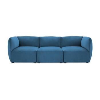 Canapea modulară cu 3 locuri Vivonita Velvet Cube, albastru de la Vivonita