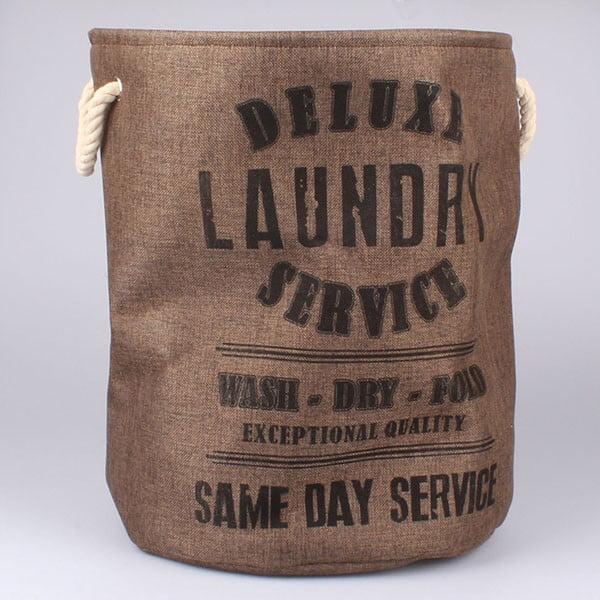 Koš na prádlo Laundry Service, hnědý
