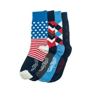 Sada 4 párů unisex ponožek Funky Steps State, velikost39/45