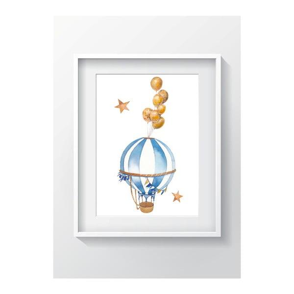 Tablou perete OYO Kids Air Balloon Adventures, 24 x 29 cm