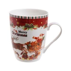 Porcelánový hrnek InArt Santa, 375ml
