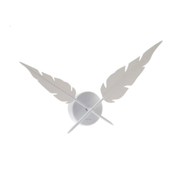 Hodiny Feathers, white