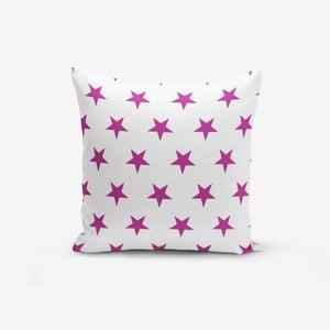 Povlak na polštář s příměsí bavlny Minimalist Cushion Covers Lilac Color Star Modern, 45 x 45 cm