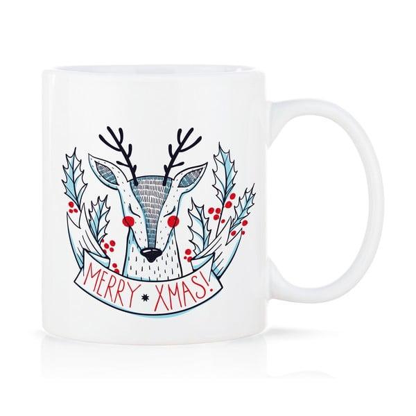 Porcelánový hrnek Merry Xmas, 300 ml