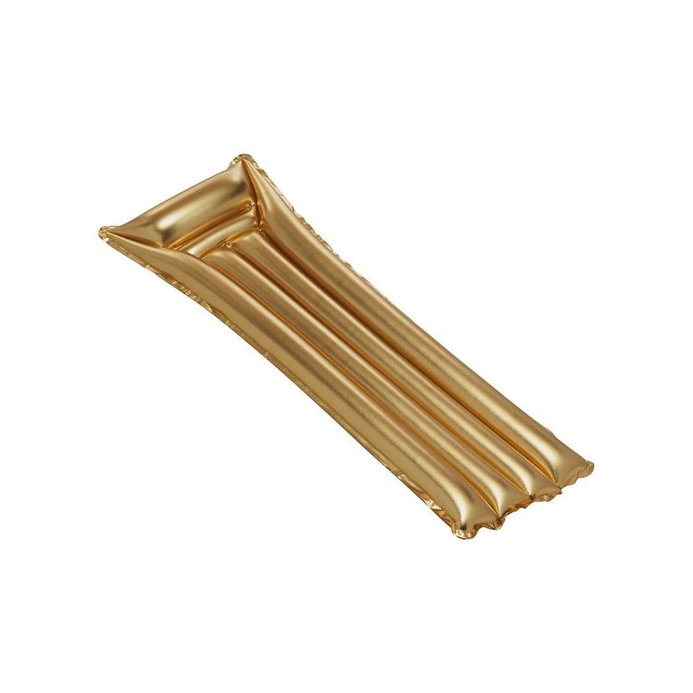 Nafukovací lehátko ve zlaté barvě Sunvibes Dorée