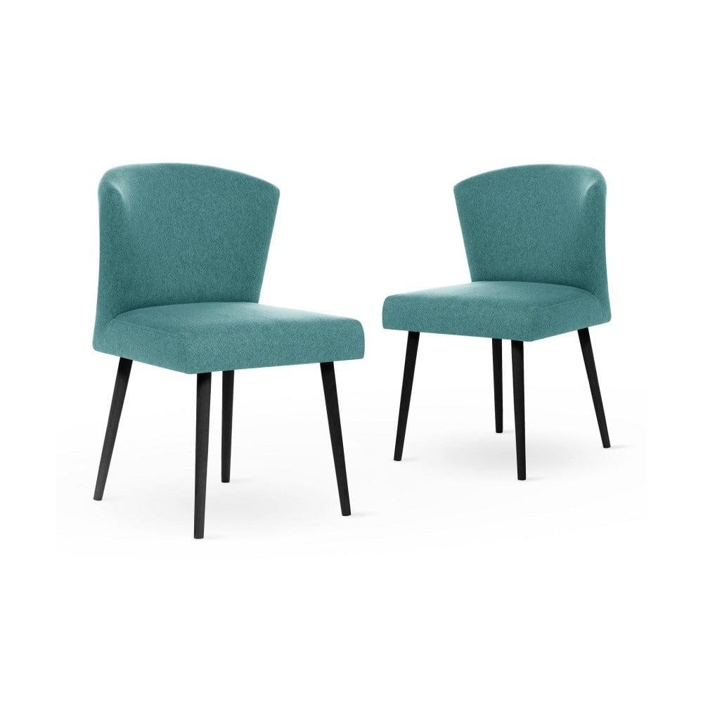 Sada 2 světle modrých židlí s černými nohami My Pop Design Richter