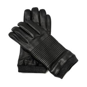 Pánské černé kožené rukavice <br>Pride & Dignity Snoop, vel. XL