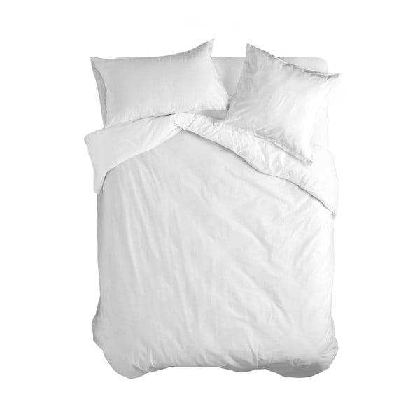 Biała bawełniana poszwa na kołdrę Happy Friday Basic, 200x200 cm