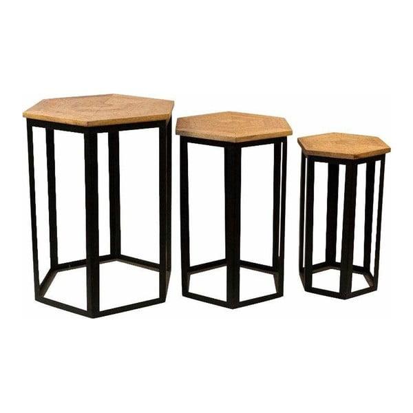 Sada 3 příručních stolků s deskou z mangového dřeva Støraa Homer