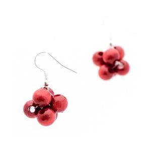 Červené náušnice ko–ra–le Berries