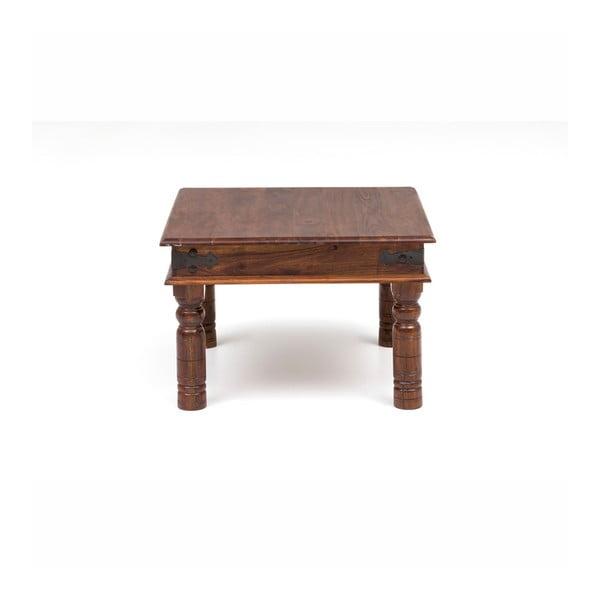 Stolik z drewna akacjowego WOOX LIVING Thakat Opium, 60x60 cm