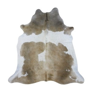 Covor din piele de vacă 198 x 158 cm, maro deschis