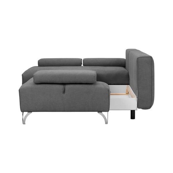 Světle šedá rohová rozkládací pohovka Windsor & Co Sofas Virgo, pravý roh