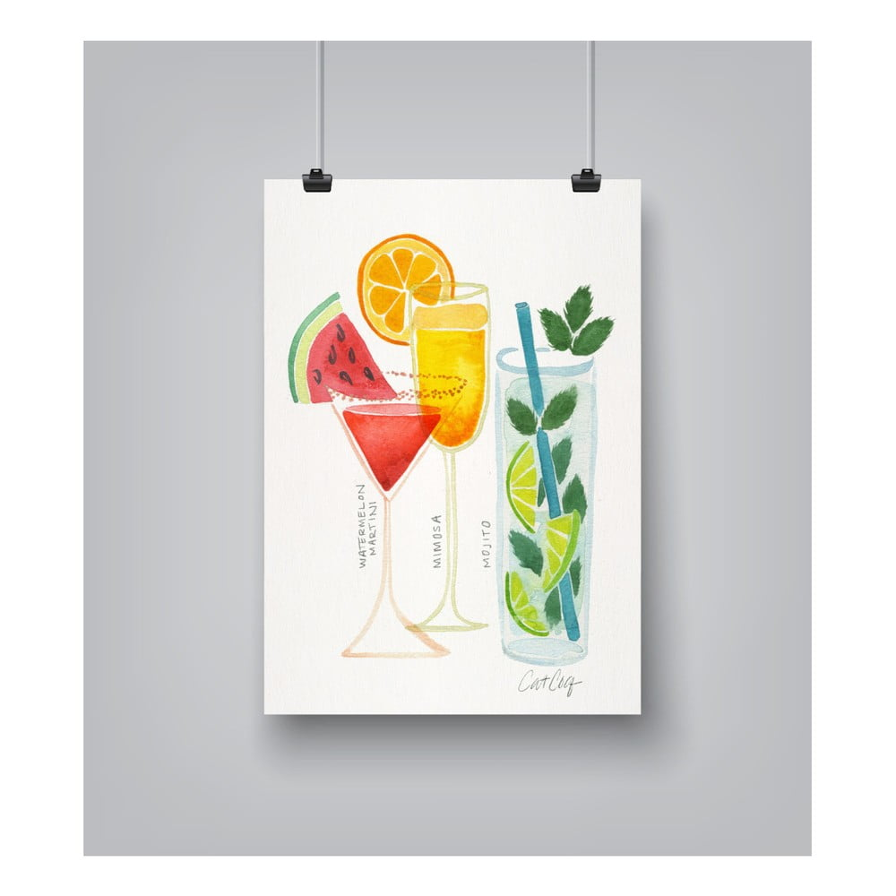 Plakát Americanflat Summer Cocktails by Cat Coquillette 30 x 42 cm