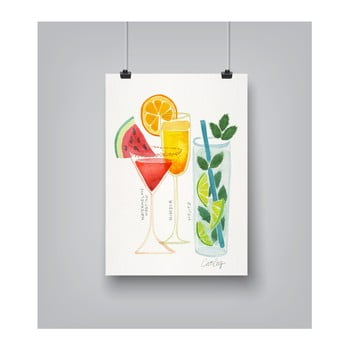 Poster Americanflat Americanflat Summer Cocktails, 30 x 42 cm