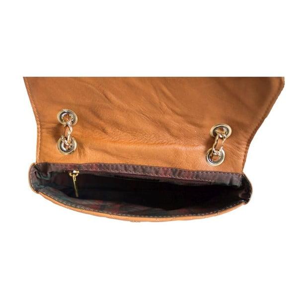 Kožená kabelka Valentina Cognac