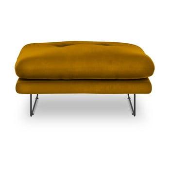 Puf cu tapițerie de catifea Windsor & Co Sofas Gravity, galben imagine