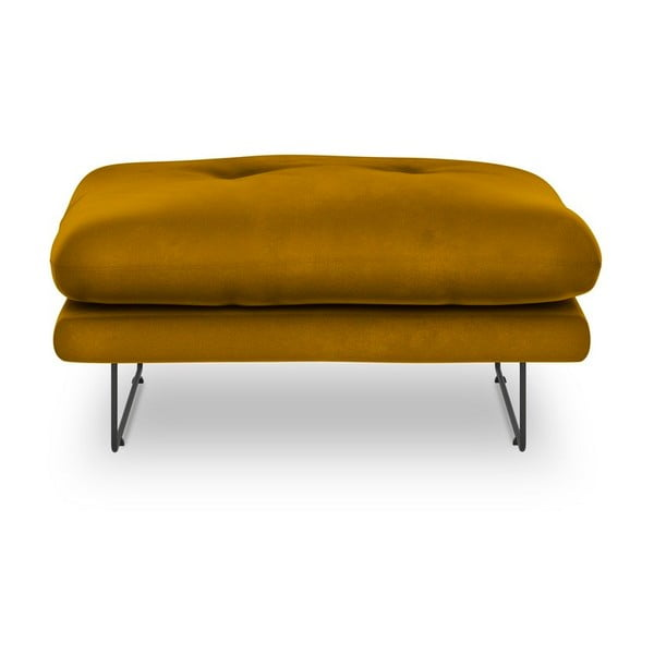Gravity sárga bársony puff - Windsor & Co Sofas
