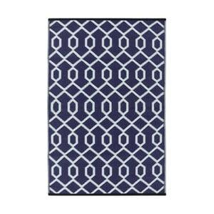 Fialovo-šedý oboustranný venkovní koberec Green Decore Valencia, 90 x 150 cm