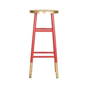 Červená stolička na sezení Safavieh Kia
