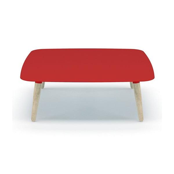 Červený  konferenční stolek MEME Design Nord Quadro