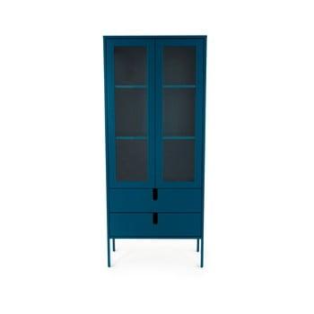 Vitrină Tenzo Uno, lățime 76 cm, albastru petrol imagine