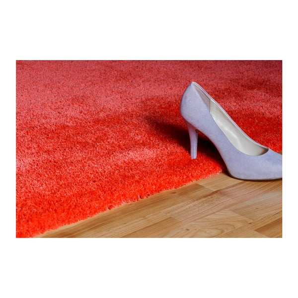 Červený ručně vyráběný koberec Obsession My Carnival Car Cora, 80 x 150 cm