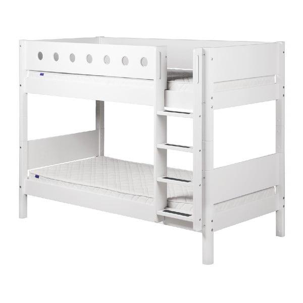 Białe łóżko piętrowe Flexa White