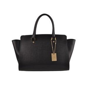 Kožená kabelka Emilio Masi Harbour, černá