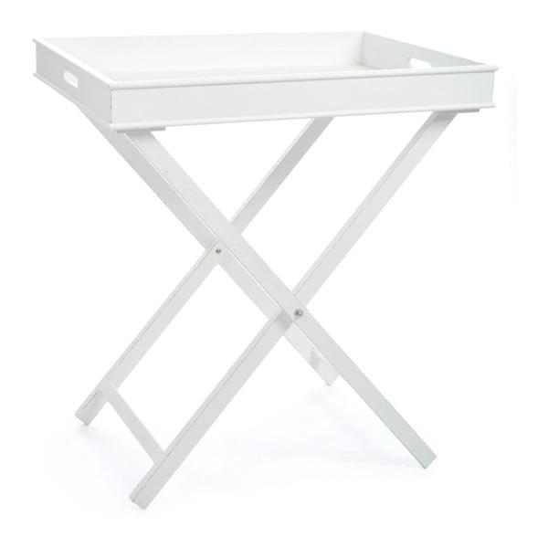 Odkládací stolek Butlertray White, 71x51x77 cm