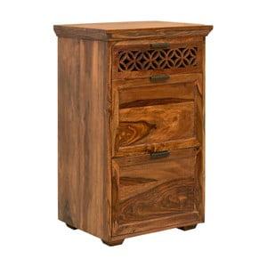 Comodă din lemn de palisandru cu 3 sertare Massive Home Rosie