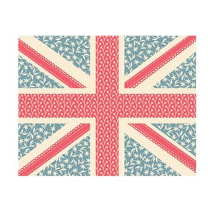 Vinylový koberec Floral Union Jack, 99x120 cm