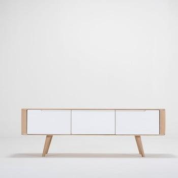 Comodă TV din lemn de stejar Ena, 135 x 55 x 45 cm de la Gazzda