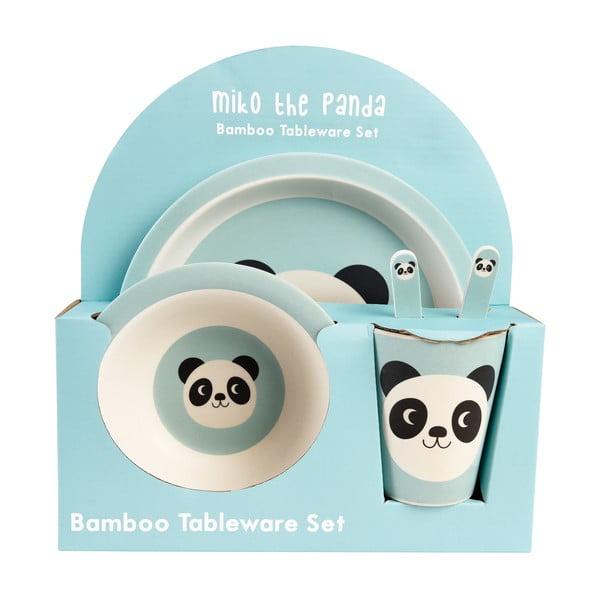 Sada detského bambusového riadu s pandou Rex London, 5 kusov