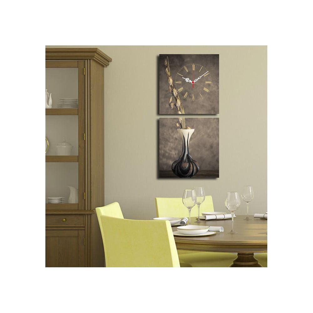 Obrazové hodiny Kompozice s vázou, 60 x 28 cm