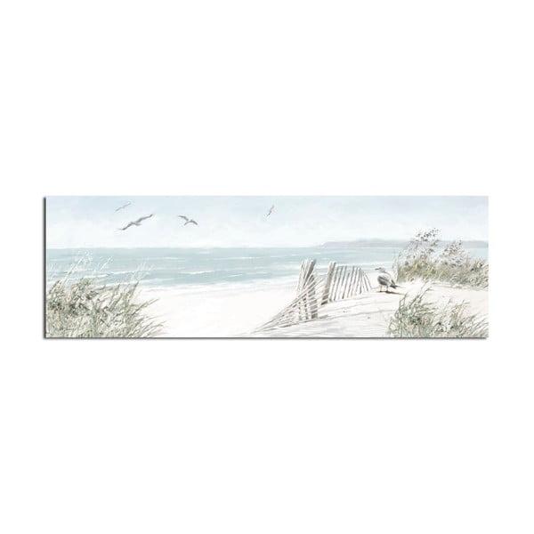 Obraz Styler Canvas Watercolor Dune, 45x140 cm