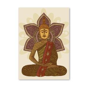 Autorský plakát Sitting Buddha od Valentiny Ramos