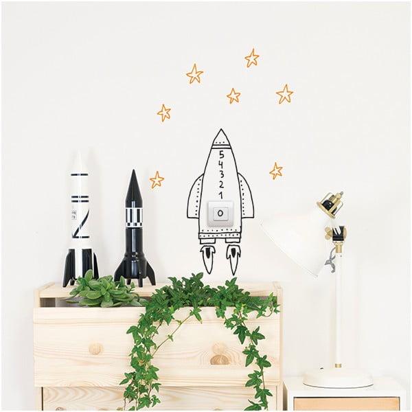 Dekorativní samolepka na zeď Switch Rocket