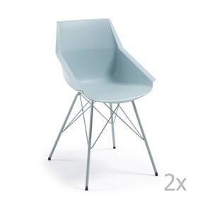 Sada 2 modrých židlí La Forma Kunn