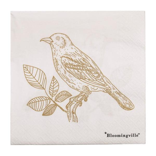 Birdie 20 db-os papírszalvéta szett, 33x33cm - Bloomingville